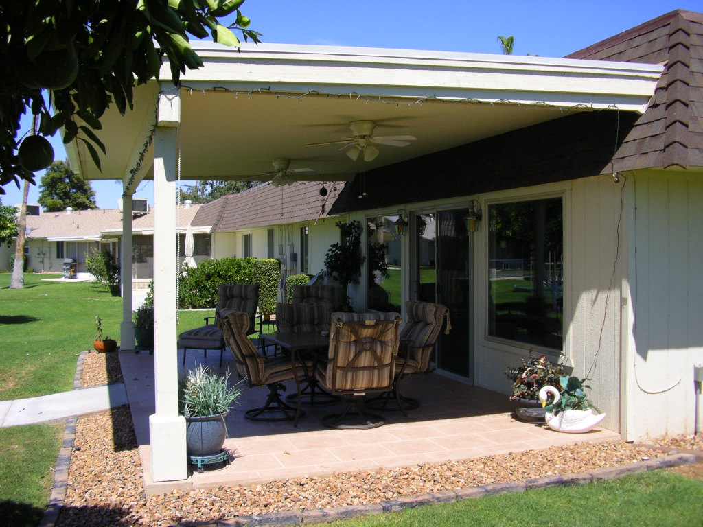 Wood porch & existing porch enclosure- Sun City, AZ.