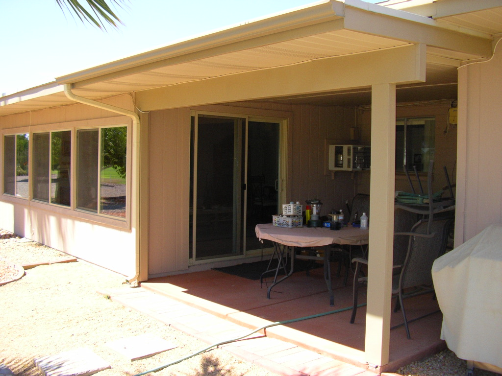 Rear wood porch- Sun City, AZ.