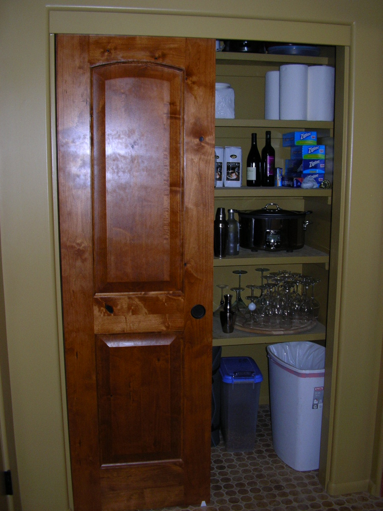 Pantry with Knotty Alder Door- Mesa, AZ.